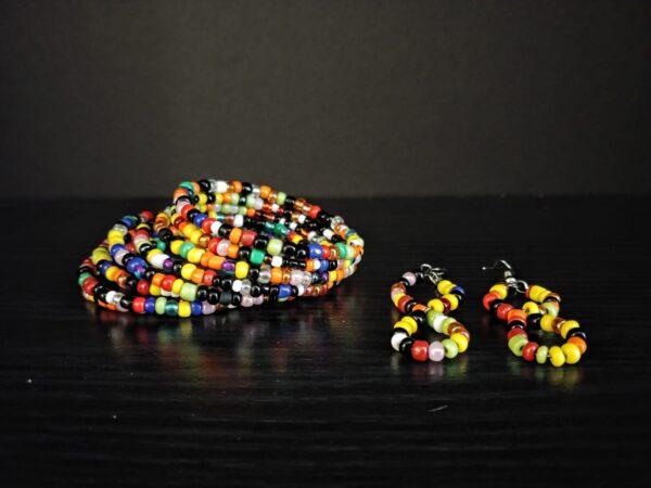Spiral Bracelet and Earrings